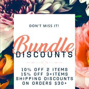 • Bundle Discounts Available •